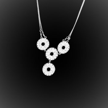 Collier Moonlight en broderie d'argent