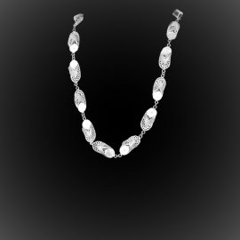 Collier Out of office en broderie d'argent