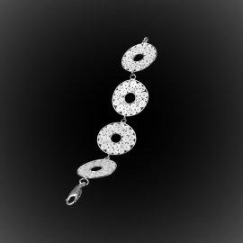Bracelet Moonlight en broderie d'argent