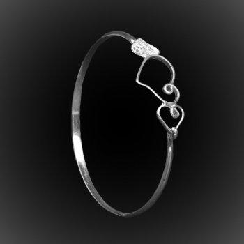 Bracelet Sweetheart en broderie d'argent