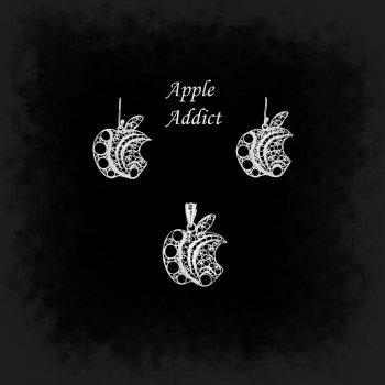 Duo Apple Addict en broderie d'argent