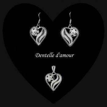 Duo Dentelle d'amour en broderie d'argent
