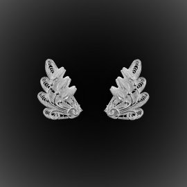 Clous d'oreilles Royal Java en filigrane d'argent