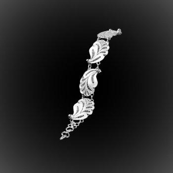 Bracelet Poseidon en broderie d'argent