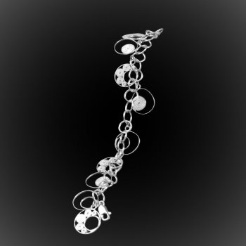 Bracelet Voie lactée en broderie d'argent
