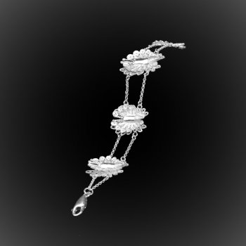 Bracelet Royal Butterfly en broderie d'argent