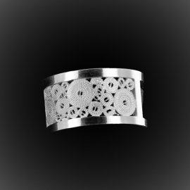 Bague Rectangular Open en filigrane d'argent