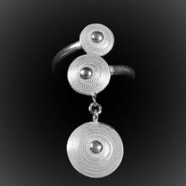 Bague Nefertiti en filigrane d'argent