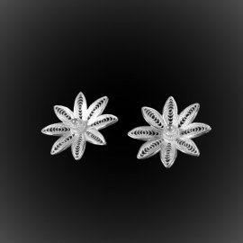 Clous d'oreilles Hawaiian Dream en broderie d'argent