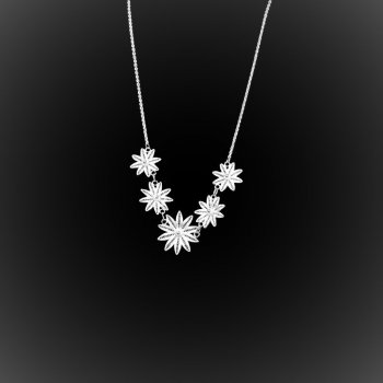 Collier Hawaiian Dream en broderie d'argent