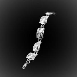 Bracelet Queen Set en broderie d'argent
